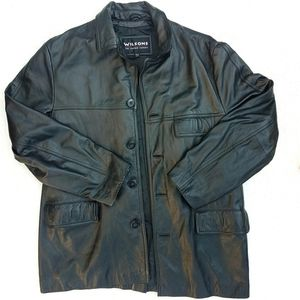 Wilsons Leather 4 Button Genuine Leather Coat